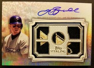 JEFF BAGWELL 2020 TOPPS STERLING Seasons ON CARD 5 JERSEY LOGO PATCH AUTO 1/1