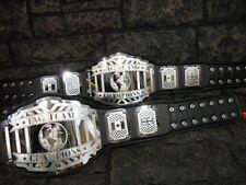 SALE ! Tag Team Championship Belts 2 Legend Model Adult wwf Metal Plates wwe wcw