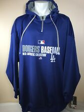 Majestic Los Angeles Dodgers MLB Authentic Collection Blue Pullover Hoodie 5XL
