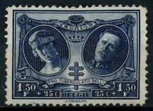 Belgium 1926 SG#432, 1f50+25c War Tuberculosis Fund MH #E85627