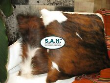 """COWHIDE PILLOW COVER 15"""" x 15"""" TRICOLOR Cowhide Rug"""