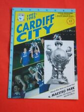 Cardiff City v Maesteg Park, Welsh Cup Quarter Final   16th January 1993