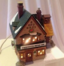 Dept 56 Dickens Village 1994 Giggleswick Mutton & Ham Lighted Mib