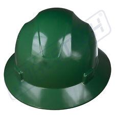 GREEN HARD HAT FULL BRIM JORESTECH 4 POINT RATCHET SUSPENSION CONSTRUCTION ANSI
