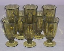 8 TIFFIN FRANCISCAN CANTERBURY GREENBRIAR ICED TEA GLASS GOBLET OLIVE GREEN 115