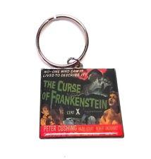 THE CURSE OF FRANKENSTEIN KEYRING - Original 1956 Film Poster  - Metal New