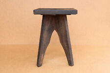 Old Antique Vintage Wooden Wood Chair Stool Seat Bench Industrial Style 1940's