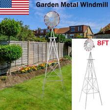 8Ft Metal Windmill Vane Ornamental Yard Garden Decoration Weather Rust Resistant