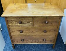 Rustic Oak Chest Of Drawers Bedroom Storage Unit Good Condition DIY Project