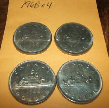 Lot of 4 1968 Canada Nickel dollars...free ship for Canada...low ship for USA!!