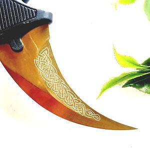 CS:GO Karambit TITANIUM Counter Strike Knife D Lore CSGO (Gold)