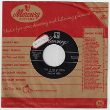 50's Country Spoken Word Devotional 45 / NELSON KING - This Is My Church   !!