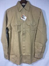 NEW NWT MENS WOOLRICH THICK WORK SHIRT S SMALL TAN BEIGE 6092