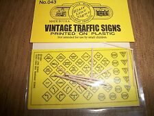Blair Line  N Scale Vintage Traffic Signs NICE #043  Bob The Train Guy