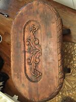 English 19 Century Oak Hand Carved Coffee Table