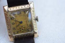 Alte Art Deco Armbanduhr Gold 585/14kt