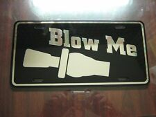 Blow Me Duck Call Chrome On Black License Plate