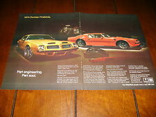 1974 PONTIAC FIREBIRD TRANS AM  ***ORIGINAL 2 PAGE AD***