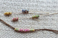 18k gold charm gemstone pendant diamond emerald ruby sapphire mini rondelle