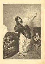 Leopard, Den, Death Sentence, Last Greeting, Vintage, 1876, Antique, Art, Print,