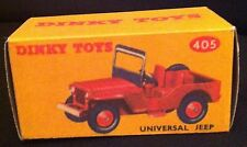 Dinky 405 Universal Jeep Empty Repro Box Only
