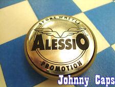 Alessio Wheels Silver Center Caps #2  Custom Wheel Center Cap (1)