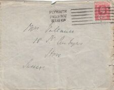 SIERRA LEONE:1910 envelope used to UK-PLYMOUTH PAQUEBOT machine cancel