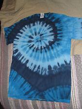 100% Cotton Blue Tye-Died T-Shirt New XXXL