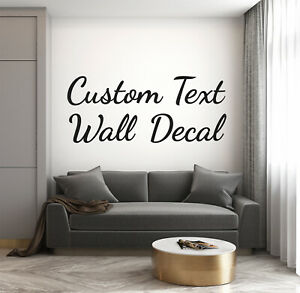 Wall Decal Personalised Text Name Word Sticker Sign Mural Decorate Kids Room