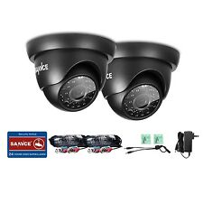 SANNCE 2x720P Indoor Outdoor IR Night Vision Home CCTV Security Camera Dome PAL
