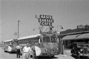 Negativ-OASIS-Garage-Cafe-Bus-Car-Highway-USA-United-States-1930s-5