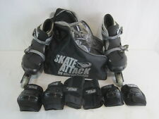 Skate Attack Youth Adjustable 4 Sizes Roller Blades (R78-101)