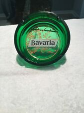 Bavaria Holland Beer Green Glass Ashtray made in France
