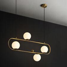Modern 4 Light Pendant Lamp LED Line Glass Globe Chandelier Lighting Fixtures