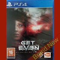 GET EVEN - PlayStation 4 PS4 ~ Brand New & Sealed!