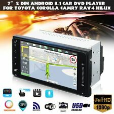 Android 8.1 7'' 2 Din Radio Player Stereo WIFI GPS DVD For Toyota Corolla Hilux