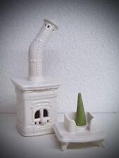CASA ahumeante Horno Fumador Para Ahumar CERÁMICA BLANCO 20cm Figura 40443