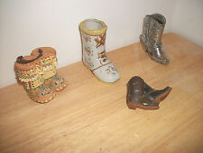 Boot  Figurines & Leather Key Chain - Made in Japan, Occupied Japan & Mexico