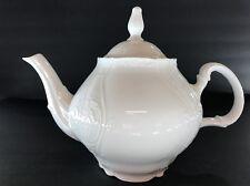 WHITE BERNADOTTE FINE CHINA *TEAPOT TEA POT w/lid *CZECH REPUBLIC