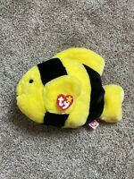 TY 1998 BUBBLES the FISH BEANIE BUDDY - MINT with MINT TAGS