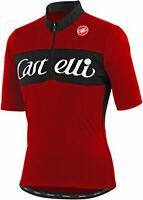 Castelli Gino Wool Short Sleeve Cycling Jersey Red Size XS