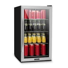 Mini Nevera Frigorífico de bebidas Puerta Vidrio 124L 0-10 °C A+ Inoxidable