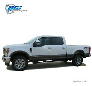 OE Style Fender Flares Fits Ford F-250, F-350 Super Duty 17-20 Paintable Finish