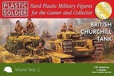 20mm Tanque Churchill británica-Plastic Soldier Company Segunda Guerra Mundial - 1/72