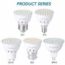 GU10 LED E27 Lamp E14 Spotlight Bulb 48 60 80leds lampara 220V GU 10 bombillas