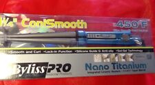 """BaByliss PRO 1 1/4"""" - 5/8"""" ConiSmooth Taper Barrel Smooth And Curl Titanium"""