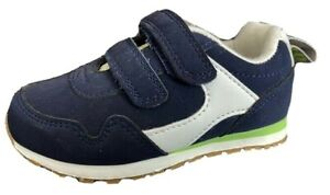 MOTHERCARE Boys Baby Trainers Navy Touch Strap Easy Fasten PE Sports Shoes NEW