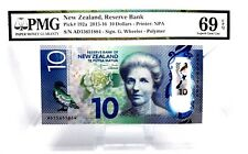 MONEY NEW ZEALAND 10 DOLLARS 2015 RESERVE BANK PMG SUPERB GEM UNC PICK #192a