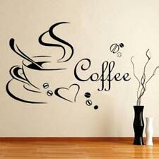 Removable Kitchen Decor Coffee Cup Heart Home Decals Art Wall Sticker Dd