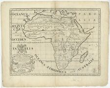 Antique Map of Africa by Wells (1700)
